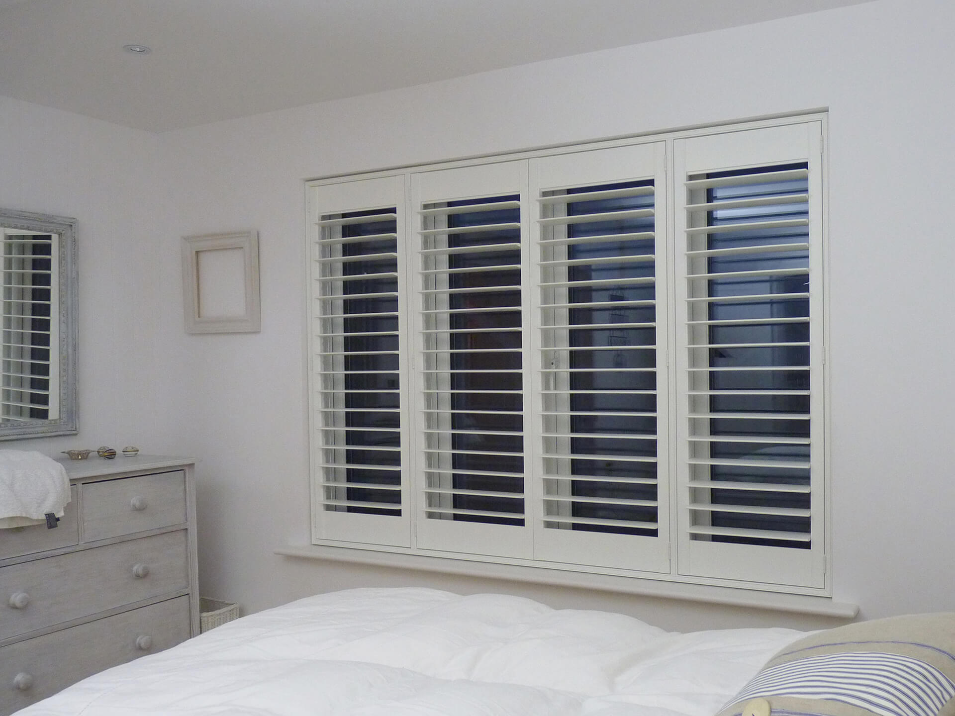 Exterior: Beautiful Plantation Shutters